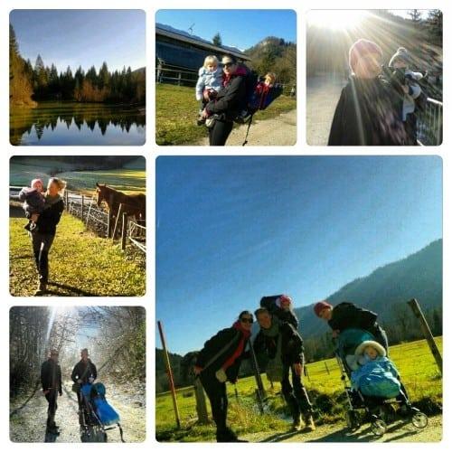 Sončen zimski dan v Ribnem pri Bledu