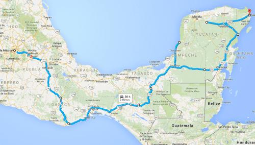 Naša pot po Mehiki