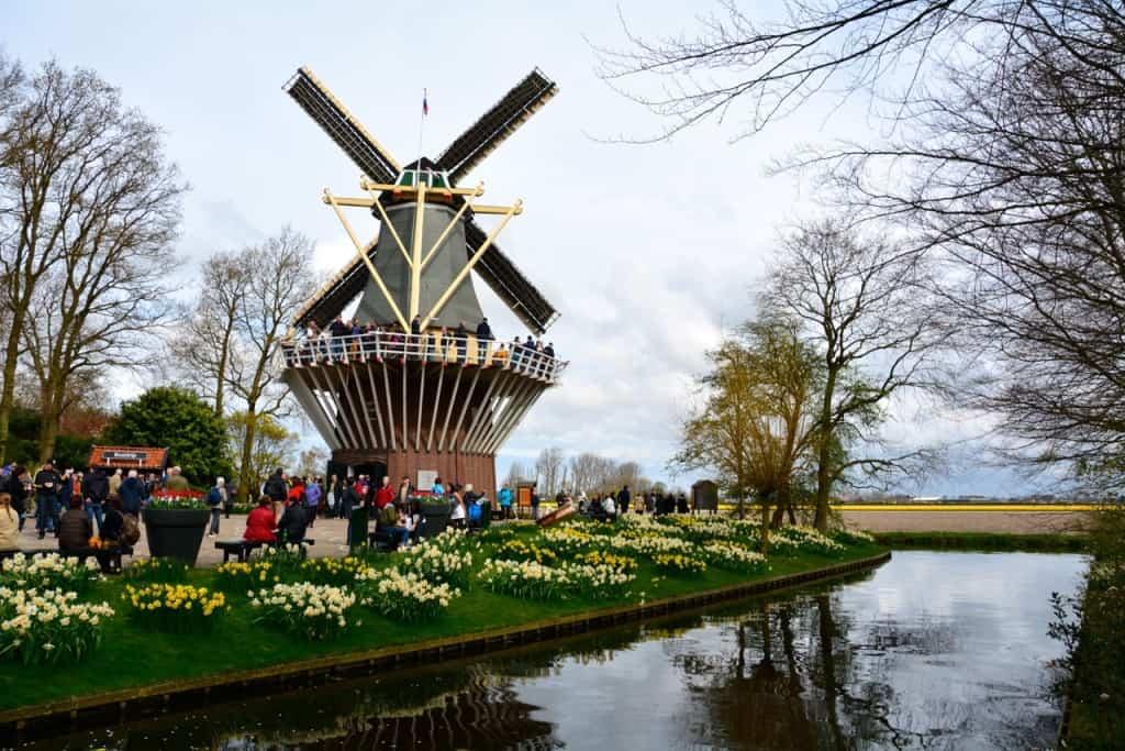 Pri mlinu na vodo skočite v ladjico za ogled nasadov tulipanov