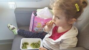 Sveže sadje, suho sadje, sendviči in za kar veste, da ima otrok rad, prinesite kar od doma.