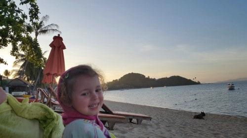 Zvečer na naši plaži Bohput.