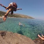 Kampiranje z otrokom na grškem otoku Naxos