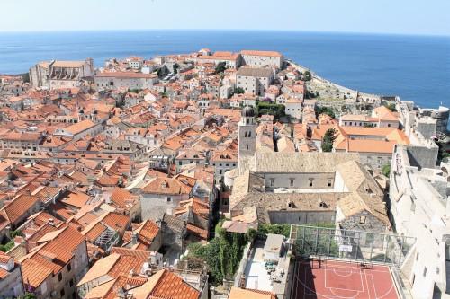 Čudoviti razgled na Dubrovnik iz obzidja, Hrvaška