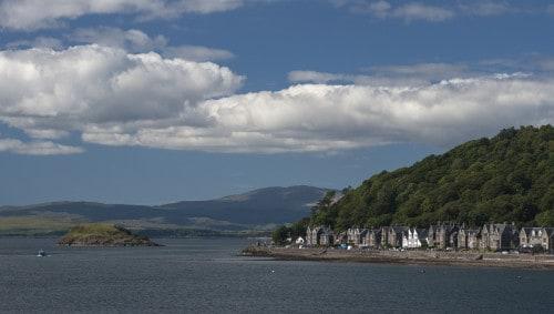 V Obanu nas je razveselilo jasno vreme, Škotska