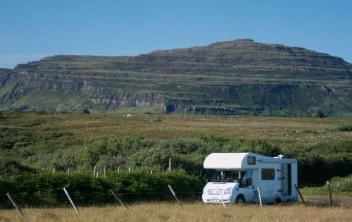 Večji del poti smo prepotovali z avtodomom, Škotska