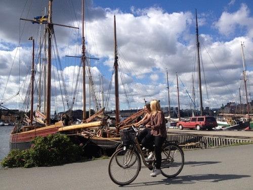 Stockholm je idealno mesto za raziskovanje s kolesom