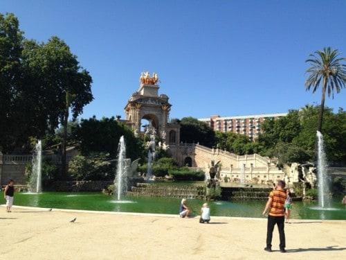 Park v Barceloni (Katalonija, Španija)