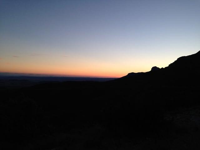 Sončni zahod na Salto de Roldan, Huesco (Aragon, Španija)