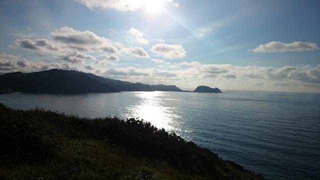 Pogled na morje iz kampa Zarautz (Baskija, Španija)