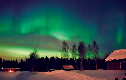 Eden najlepših nebesnih pojavov - polarni sij, Rovaniem na Finskem