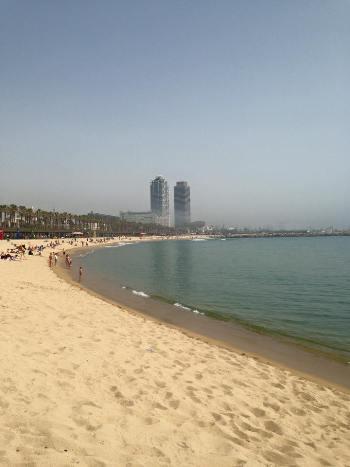 Plaža v Barceloni (Španija)