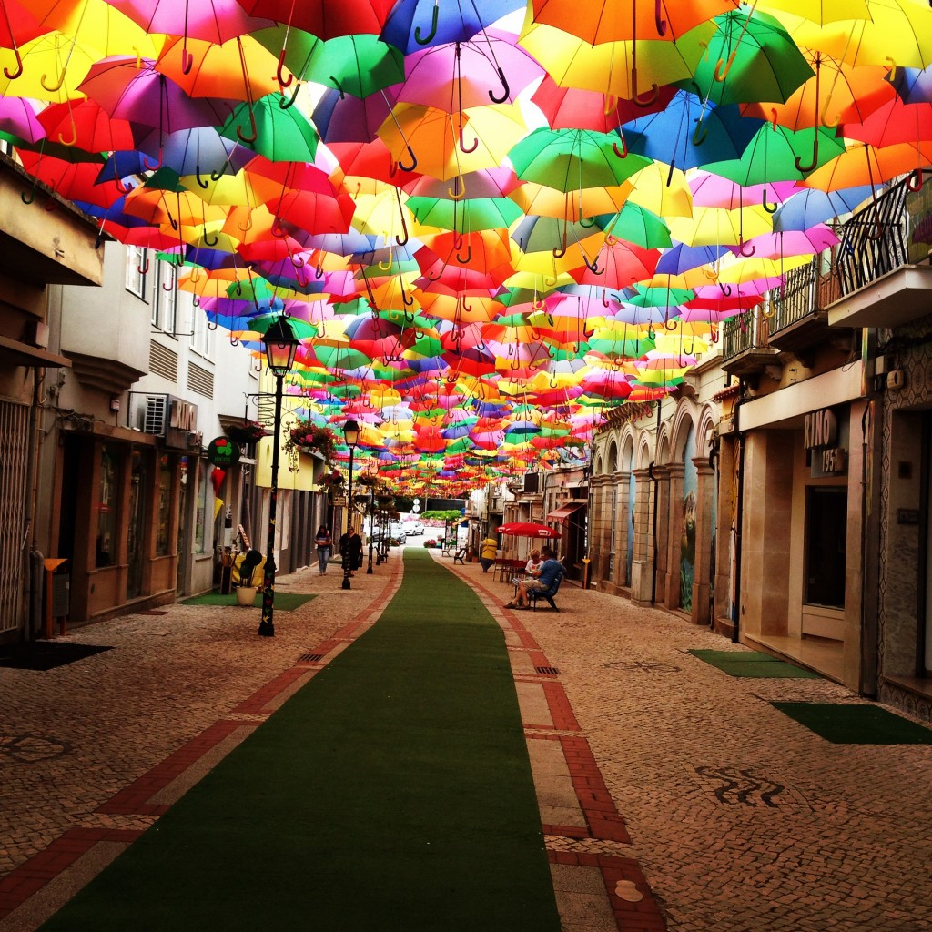 Mesto dežnikov, Aguedo (Portugalska)
