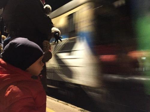 Čakanje na vlak v Celju