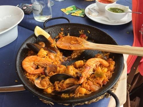 Španska rižota paella (otok Tenerife, Kanarsko otočje, Španija)