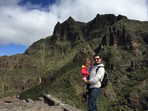 Čudovito hribovje na poti do Masce (otok Tenerife, Kanarsko otočje, Španija)