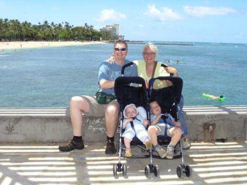 Utrinek iz družinskih počitnic na Havajih