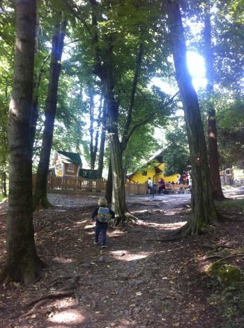 Prava gozdna lokacija s polno dogajanja za mulce, Mengeš