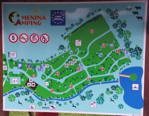 Zemljevid kampa Menina
