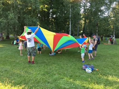 Raznolike aktivnosti za vse čute, Art kamp Festival lent