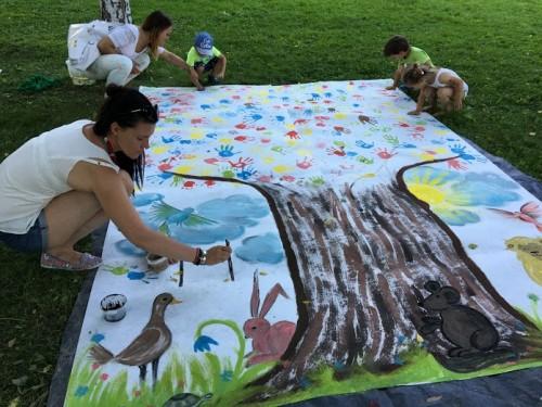 Ustvarjalne urice na art kampu, Maribor
