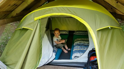 Nikola Vuk v šotoru