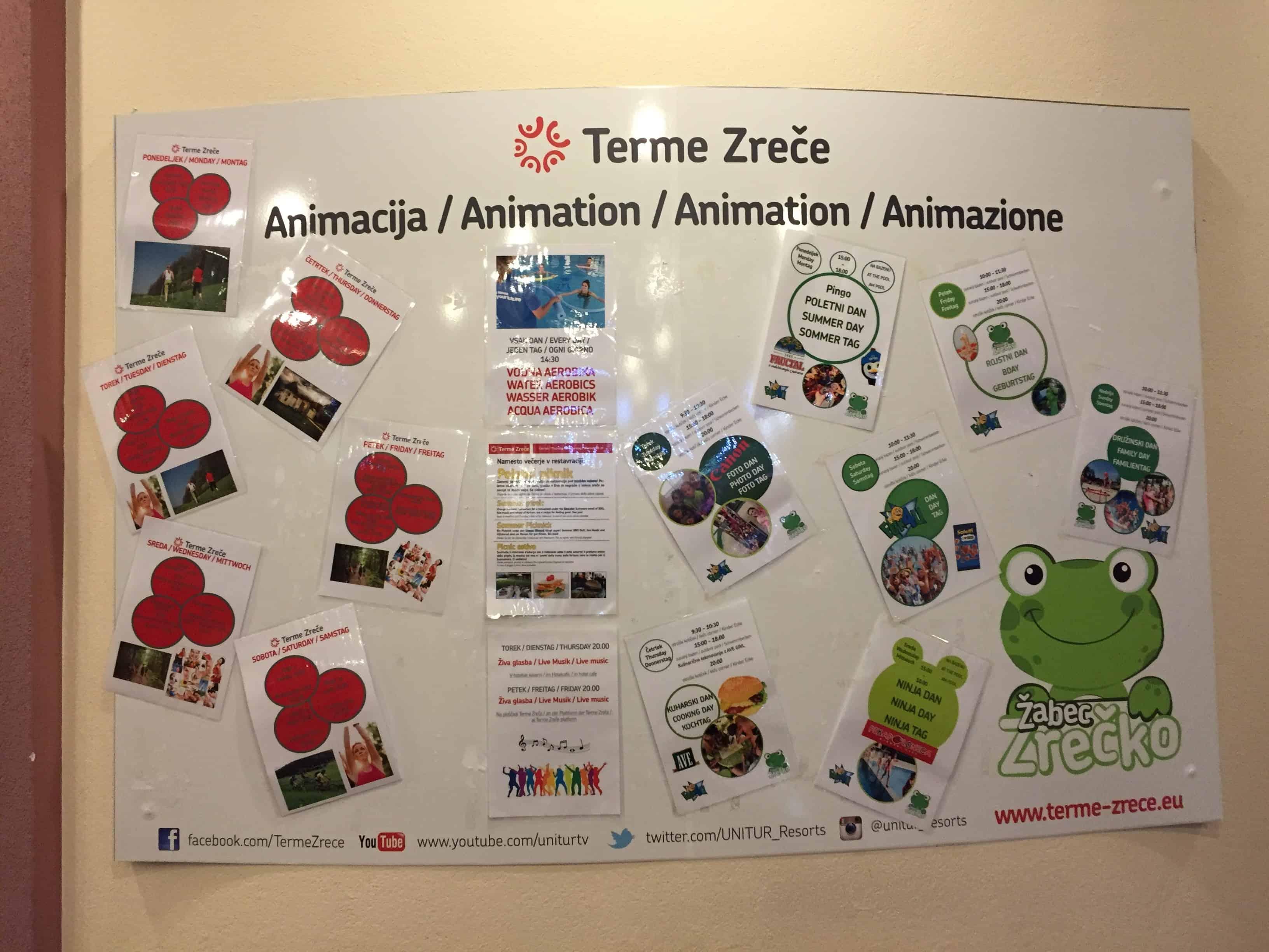Poleg animacije za otroke, je pri recepciji hotela tudi manjše notranje otroško igrišče, Terme Zreče