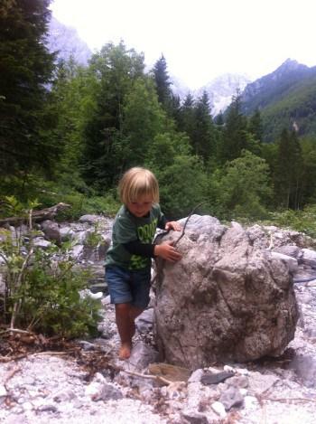 Ob potoku v Pravljičnem gozdu, Logarska dolina