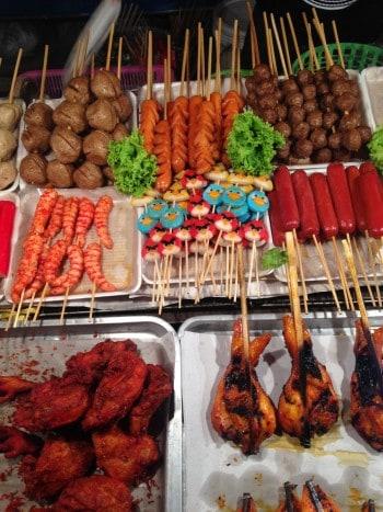 Hrana z ulice - angry birds raje nismo preizkusili, Ko Lanta, Tajska