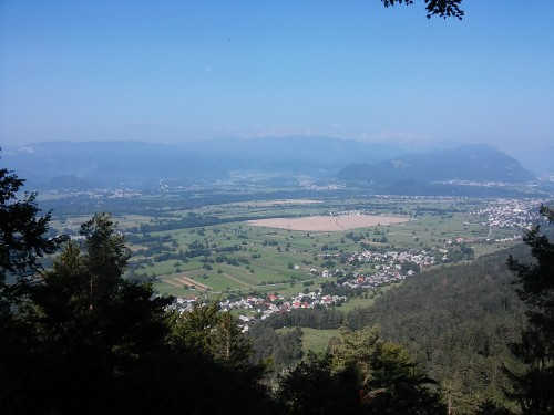 Čudovit razgled na Bled in Triglav v ozadju