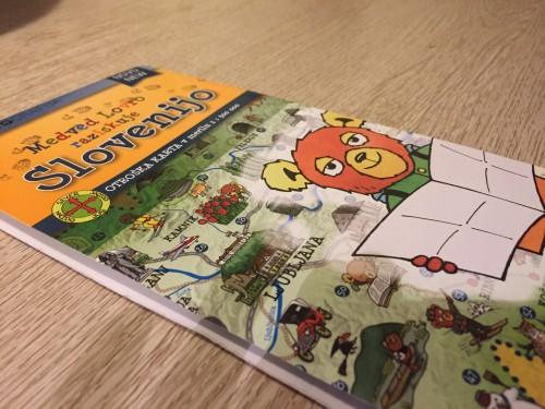 Zemljevid za otroke - Medvd Lovro raziskuje Slovenijo