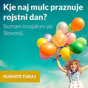 Kje naj mulc praznuje rojstni dan – seznam izvajalcev po Sloveniji