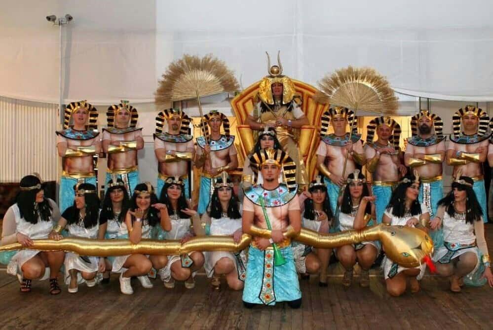 Skupinja maska Egipčani in Kleopatra izpred nekaj let. prav tako produkt skupine veselih Ptujčanov :)