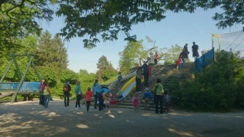 Veliko igrišče  ob Čolnarni v parku Tivoli, Ljubljana