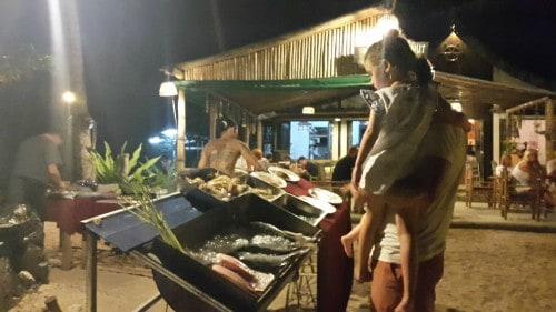 Izbereš si kaj boš jedel in ti jed pripravijo, Koh Chang, Tajska