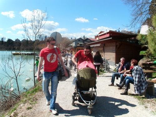 Med vozičkanje v okolici Zbiljskega jezera