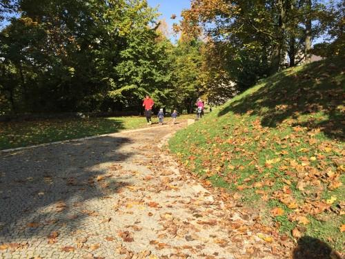Ko smo enkrat na Ljubljanske gradu, so poti za vozičkanje položne, Ljubljana