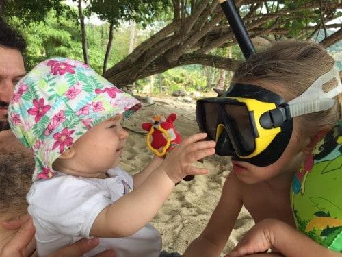 Snorklanje na plažah, kjer smo bili nastanjeni, Koh Chang, Tajska