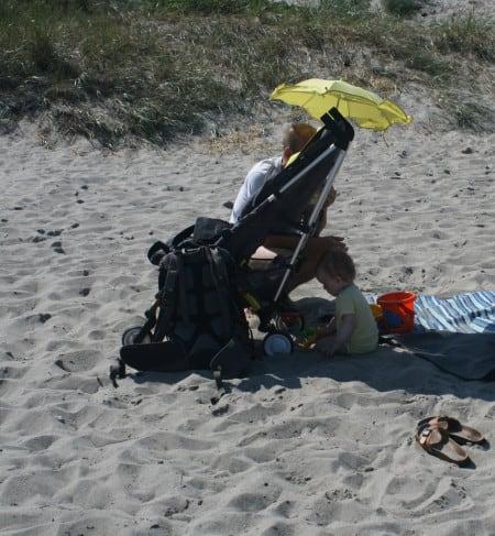 Peščeni raj za otroke plaža Marielyst Strand, Danska