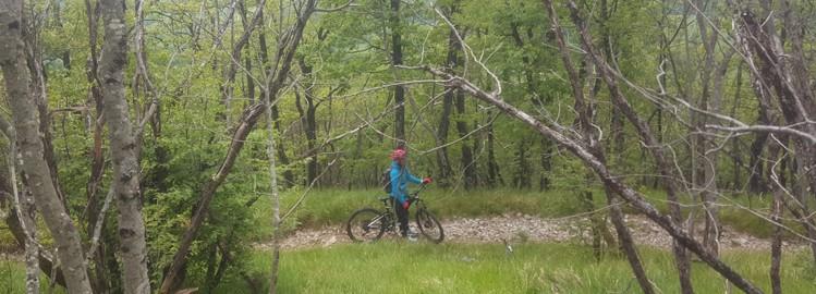 S kolesom na Slavnik, Gremo v hribe
