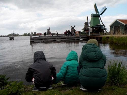 Opazovanje mlinov ali vode…Zaanse Schans, Nizozemska