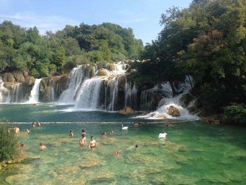 Slapovi Krke v Narodnem parku Krka, Hrvaška