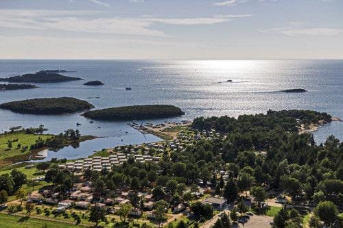Kamp Valkanela, pogled na mobilne hiške, Hrvaška