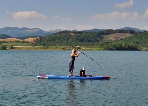 SUPanje kot pravi družinski šport, Velenjsko jezero