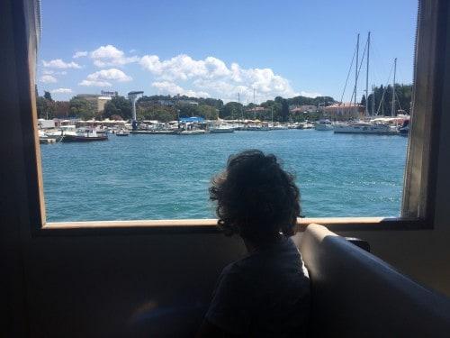 Pogled iz ladjice na Poreško marino