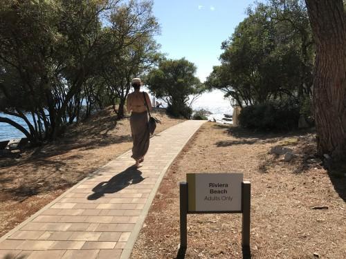 Pot do plaže, rezervirane samo za odrasle )otok sv. Nikole, Poreč)