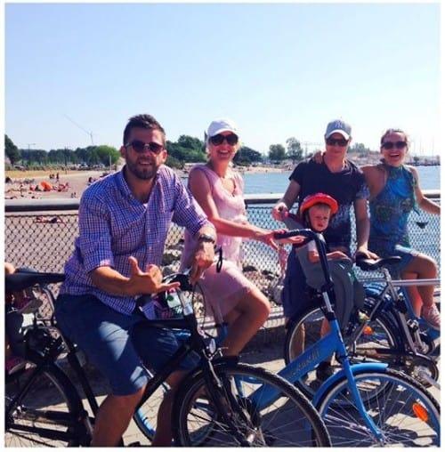 Poletno družinsko kolesarjenje po Helsinkih