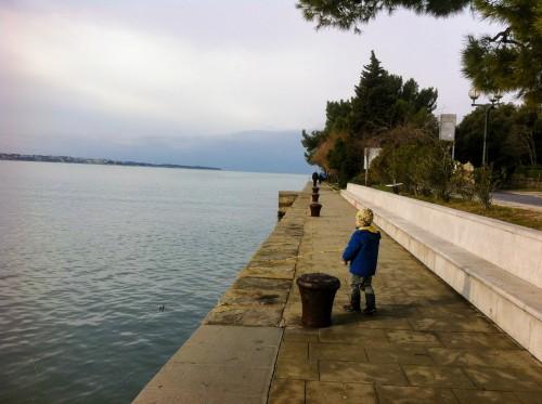 Pot ob morju iz Portoroža v Piran, kolesarjenje z otroki