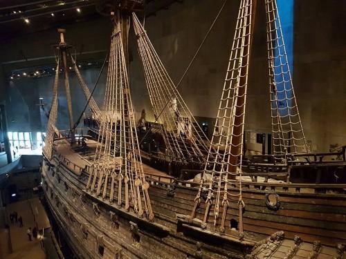 Znamenita bojna ladja v Wasa muzeju v Stockholmu
