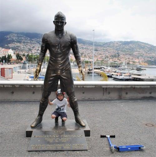 Kip Cristiana Ronalda v Funchalu, Madeira