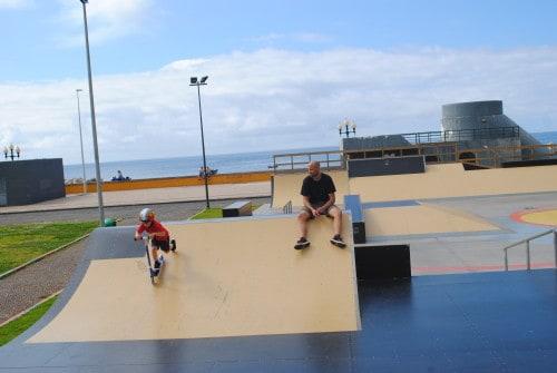 Norenje v skateparku v Funchalu, Madeira